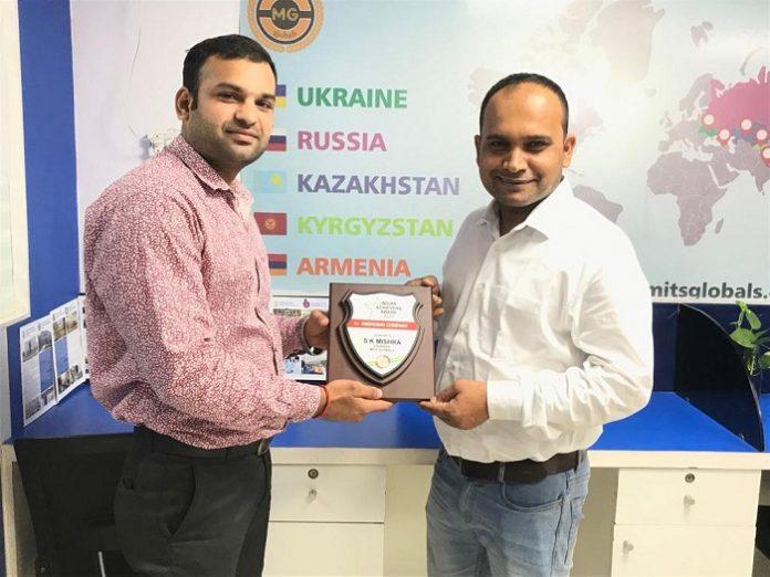 S.K Mishra won Award