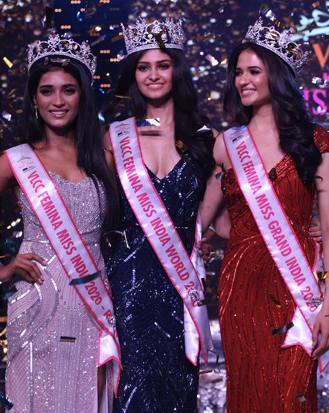 Manasa Varanasi of Telangana state was crowned VLCC Femina Miss India World 2020