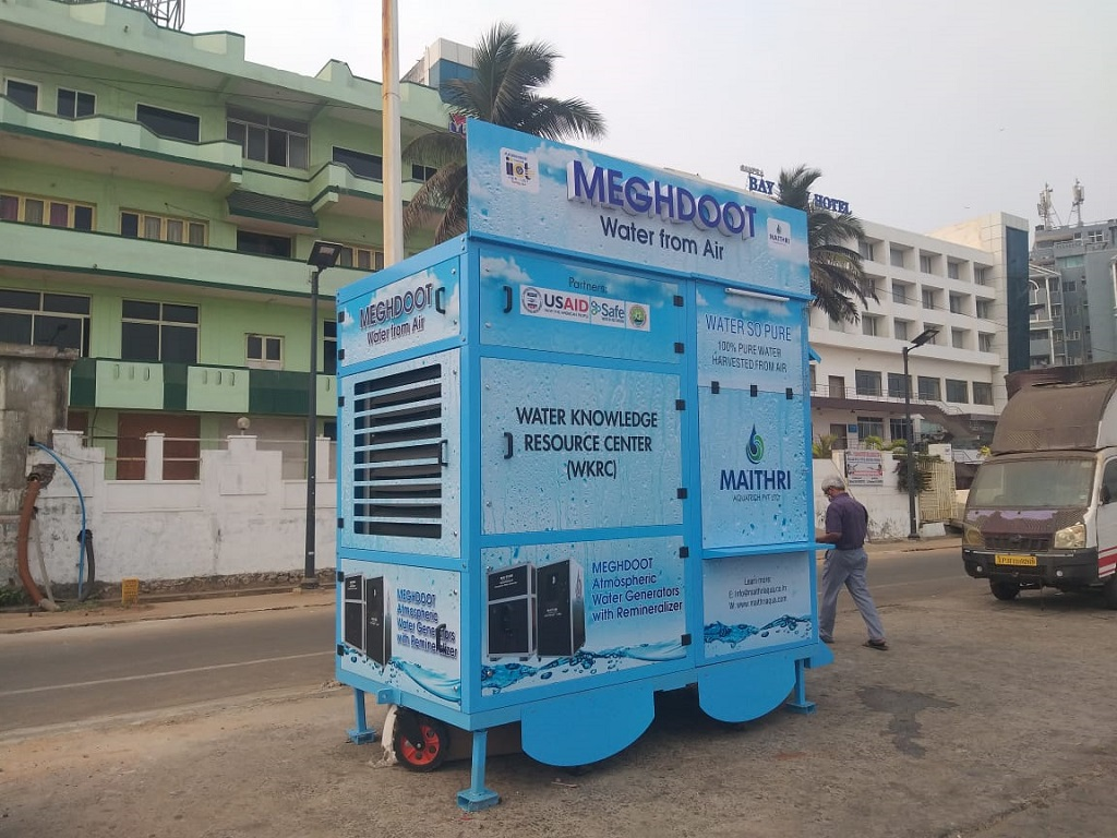 World's First Mobile Water from Air Kiosk