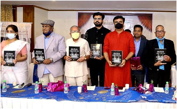 Manmohan Joshi- MJ Sir (center) at official launch of his book Code of Criminal Procedure 1973