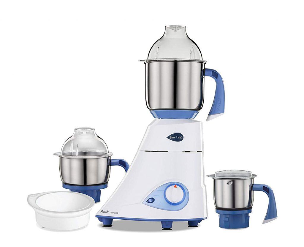 Preethi Blue Leaf Platinum 750-Watt Mixer Grinder